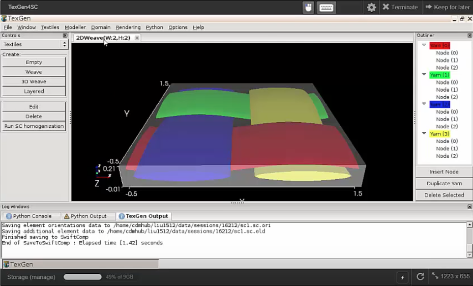 research group at purdue integrates swiftcomp with texgen